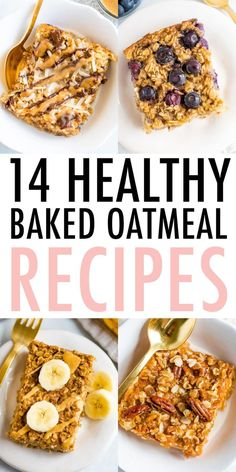 All the best baked oatmeal recipes in one place, with a flavor for every season and occasion! These recipes are perfect for meal prep and so delicious. Oatmeal Flavors, Baked Oatmeal Recipes, Blueberry Chocolate, Blueberry Oatmeal, Real Food Recipes, Cooking Recipes, Fall Breakfast, Breakfast Ideas, Delicious Breakfast Recipes