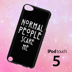 ER1342 Normal People Scare Me Ipod 5 Case | BirlynaCase - Accessories on ArtFire