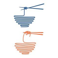Art Logo, Typography Logo, Logo Line, Logo Restaurant, Graphic Design Inspiration, Japanese Art, Doodle Art, Book Design, Graphic Illustration