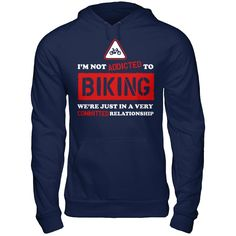 Addicted To Biking Are You Addicted To Biking?  Then This Shirt Is Perfect For You!    ACT FAST and click the green button before they're all gone!  Sizes S-6X available!