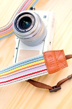 Rainbow stripes camera straps. My Olympus E-P3 suddenly looks boring with its original straps.