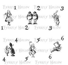 Do It Yourself 4x6 Alice in Wonderland Table by FyreflyHollow