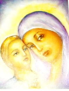 Madonna with Child  religious paintings 50/60 Oil on canvas Christian painting offered for sale Please, come with price Thank you, God bless you