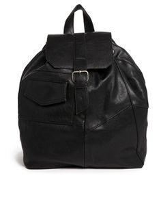 Image 1 of Pull&Bear Patchwork Backpack in Black