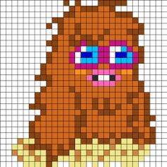 Furi Moshi Monsters perler bead pattern