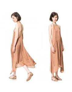 Backless  big pocket dress