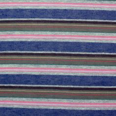 Renae Stripe Cotton Jersey Blend Knit Fabric - Super soft cotton jersey knit stripes in a color palette of pink, heather blue and gray, green, and brown.  Fabric is very soft, light weight, and has a nice stretch.  Stripes repeat is 2