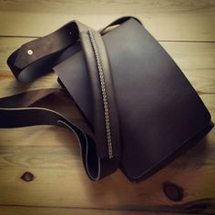 Small leather satchel big enough for all the by KochLeather,