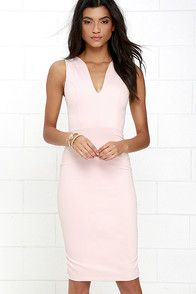 Quite Spectacular Blush Midi Dress at Lulus.com!
