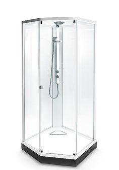 """Porsgrund Showerama 8-5 dusjkabinett er det første komplette dusjkabinett som er testet og godkjent av SINTEF for å sikre deg et trygt produkt. Porsgrund Showerama 8-5 er et dusjkabinett i elegant design. Toppdusj med """"regnfølelse"""" og regulèrbar hånddusj er standard. Profiler i hvit aluminium og flere størrelse- og glassalternativ. Du kan velge farge på søyle og frontparti for dusjkar. Glatte flater, ingen bruk av silikon, samt hjul under dusjkaret gir enkelt renhold."""