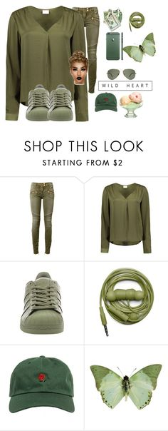 """""""62. Wild Heart"""" by lifeissweet170000 ❤ liked on Polyvore featuring Balmain, VILA, adidas, Urbanears and The Hundreds"""