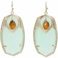 Chalcedony earrings via REVEL