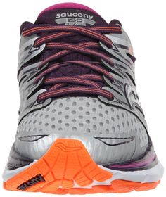 Saucony Womens Triumph ISO Running Shoe Silver Purple Orange 8 M US      Click image to review more details. (This is an affiliate link) 7b5579317