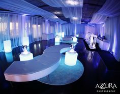 LOVE this! Lighting, lounge furniture, set-up, draping.