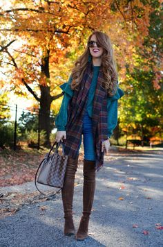 Chatting about Chenille Sweaters for Fall... SWEATER BP   SCARF Sole Society (love this too)  JEANS Parker Smith c/o   BOOTS Stuart Wetizman(similar here)   BAG Louis Vuitton   SUNGLASSES Karen Walker   EARRINGS Bauble Bar c/o #jimmychooflats