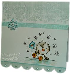 Netty's Cards: Blue Pingu