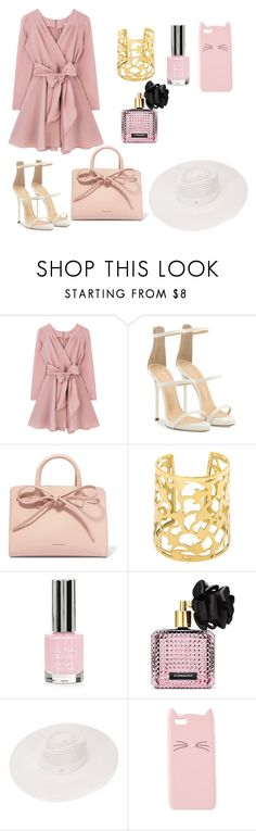 """Untitled #36"" by dedic-elvira ❤ liked on Polyvore featuring Giuseppe Zanotti, Mansur Gavriel, Topshop, Victoria's Secret, Maison Michel and Charlotte Russe"