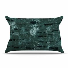 "Iris Lehnhardt ""Tex Mix Jade"" Abstract Green Pillow Case"