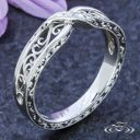 PLATINUM TWIST FILIGREE BAND