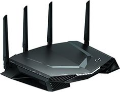 NETGEAR Nighthawk Pro Gaming WiFi Router- Powered by Netduma DumaOS Dual band wireless Gigabit Ethernet speeds- Control your ping and latency- Works with Xbox, PlayStation, PC and more, Best Gaming Router, Best Wifi Router, Best Wireless Router, Gaming Computer, Quad, Contrôle Parental, Le Wifi, Dual Band Router, Network Monitor
