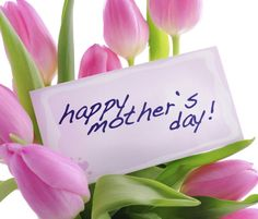 Happy mothers day little note cute pink flowers