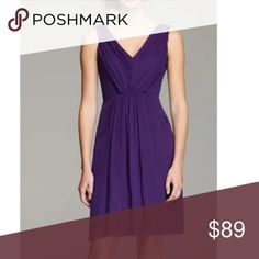 """J CREW SILK CHIFFON LOUISA DARK EGGPLANT DRESS J CREW $250 SILK CHIFFON LOUISA DARK EGGPLANT PURPLE DRESS SZ 2  Topping our best-fêtes list, this sweetly floaty number in crinkled silk chiffon features a pleated bodice and a ruched waist for some added swing. V Neck and V Back. Sleeveless. Back zip. Fully lined. Falls above knee. Import. Dry clean. Color: Dark Eggplant Bust: 32"""" Waist: 26"""" Length: 38"""" 100% SILK! J. Crew Dresses"""
