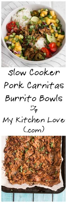 slow cooker pork carnitas burrito bowls slow cooker pork carnitas ...