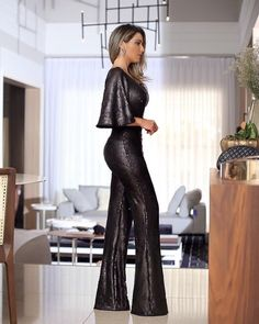 Sparkly Jumpsuit, Sequin Jumpsuit, Fall Outfits, Fashion Outfits, Womens Fashion, Cocktail Outfit, Holiday Party Outfit, Nice Dresses, Formal Dresses