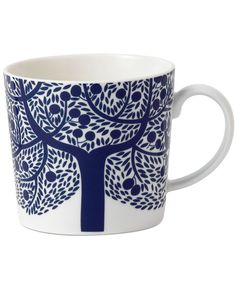 Closeout! Royal Doulton Dinnerware, Fable Accent Mug Blue Tree