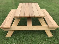 Wooden Pallet Furniture Master Picnic Table with Seats - Heavy Duty for Daily Use! Western Red Cedar All Screw Construction Table Height Width Length Weight 131 Folding Picnic Table Bench, Octagon Picnic Table, Build A Picnic Table, Wooden Picnic Tables, Swing Table, Pallet Tables, Pallet Chair, Folding Chair, Wooden Pallet Furniture