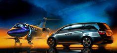 Odyssey and Honda Jet press artwork