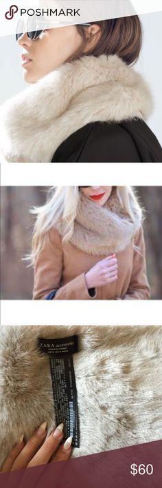 Zara Faux Fur Neck Scarf Brand new Zara faux fur neck scarf Zara Accessories Scarves & Wraps
