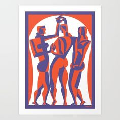 The Three Graces Art Print by David Smith. Worldwide shipping available at Society6.com. Just one of millions of high quality products available.