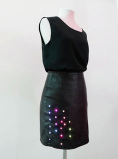 For a while, I've wanted to design a piece that interacts with sound. The Equalizer Skirt has integrated electronics which react to the noise level in its...