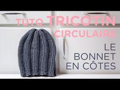 Tuto tricotin : le bonnet en côtes - YouTube