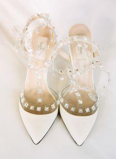 Stunning Valentino shoes: http://www.stylemepretty.com/little-black-book-blog/2014/04/16/winter-wedding-at-the-bowery-hotel-2/ | Photography: Karen Hill - http://www.karenhill.com/