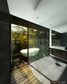 Gorgeous bathroom design with natural theme... | Visit : roohome.com    #bathroom #decoration #amazing #awesome #gorgeous #great #fabulous #interior #creative #elegant