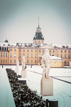 Karlsruhe Palace in Winter, Germany
