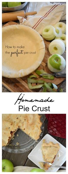 Looking for the perfect Homemade Pie Crust Recipe? You can make perfect pie crust with this step by step photo tutorial.