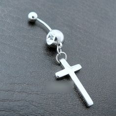 cross belly button ring   Free-shipping-Cross-Dangling-belly-ring-Fancy-belly-ring-Piercing ...