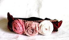 Woodland Wedding Flower Crown Knit Headband  by recyclingroom, $35.00