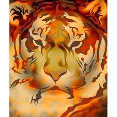 Tiger Illustration Canvas Art - Design Pics Eye Traveller Design Pics (14 x 16)