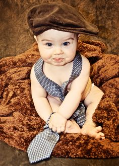 Children photography - Boy with hat and tie.  Melissa! with some of Zanes ties and hats lol.  Or in Zane's shoes! so cute!