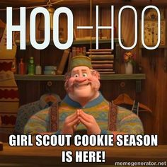 Who-Hoo!  Girl Scout Cookie Season is here!