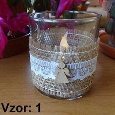 Sklenený svietnik Jarko - Sviečka - S čajovou sviečkou LED (plus 1€), Vzor - Vzor 1