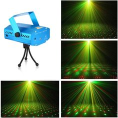 LumiParty LED Mini Laser Club Bar Stage Light Party Pattern Lighting Voice-activated Projector Show Remote Laser Projector. Stage Lighting, Night Light, The Voice, Remote, Led, Lights, Mini, Party, Pattern