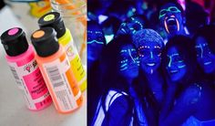 tintas neon para substituir adereços na pista de dança