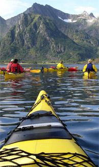 This is on my bucket list. Kayaking in Lofoten, Norway - Photo: Casper Tybjerg Beautiful Norway, The Beautiful Country, Tromso, Lofoten, Norway Roadtrip, Places To Travel, Places To Go, Holidays In Norway, Visit Norway