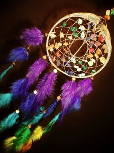 Dream Catcher- Chakra Love- Devils Claw Dream Catcher- Beautiful Feather Work- Made to Order on Etsy, $37.37