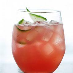 Watermelon-Cucumber Cooler Recipe #yummy #love #tasty #pink #fruity #recipe #alcohol #drinks